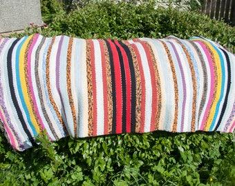 Handwoven rag rug 85% cotton