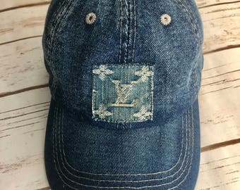 Denim LV Repurposed Baseball Cap