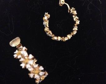 Vintage sunflower earrings