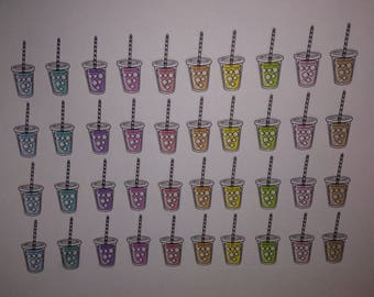 40 ice tea drinks stickers