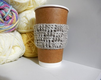 Basket Weave Coffee Cup Cozy