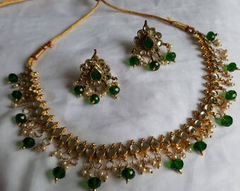traditional indian jadtar pearl jewellery