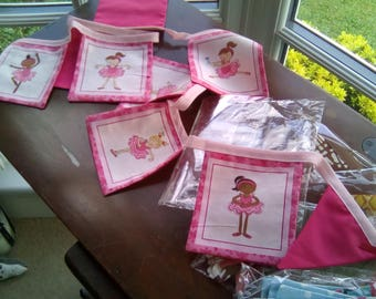 Lovely pink ballerina bunting