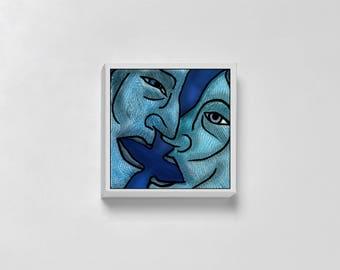 The kiss - Print Illustration - various formats - artistic Illustration - Interior Decoration