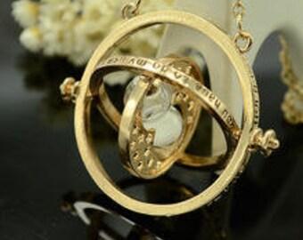 Harry potter time turner necklace hogwarts harry potter necklace timepiece turning fan