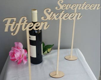 "14"" Tall Signature Table Numbers"