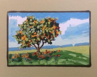 Orange Tree Painting Trees Art Linda Blondheim Art Tree Fruit Citrus Fruit Florida Orange Grove