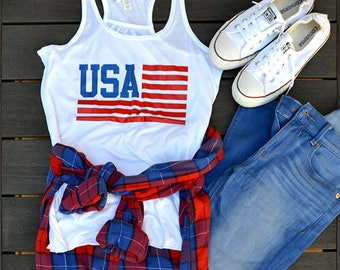 USA womens tank, patriotic, USA, 4th of July, Red white and blue, tank top, merica, America, womens tank top, USA Olympics shirt