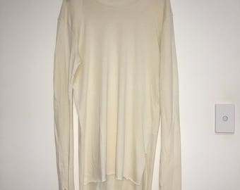 Zara Man Long Sleeved T-Shirt Off White Size L