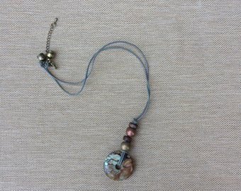 maia necklace  // gifts for her // one of a kind // turquoise // pendant