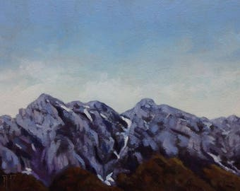 Old mountain 3 original oil painting