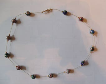 Beautiful Cloisonne Bead Necklace