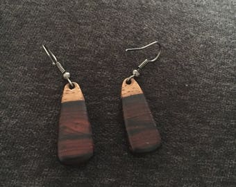 Handmade beautiful wooden earrings