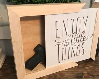 Custom hideaway wall boxes