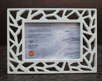 "Family / Friendship_Ice crack hand made design_Picture frame_ (FREE transport charges, 2 in one package) Metz for 4""x6"""