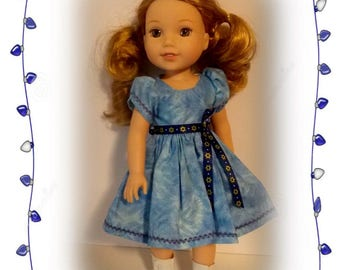 "Wellie Wisher doll not included. Hanukkah Dress for 13"" & 14.5"" Dolls. Will fit dolls the size of Wellie Wisher, Mini-Maru, Little Darling"