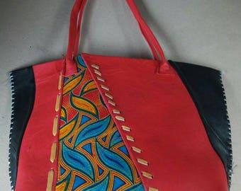 Handmade bag, Ladies bag , women gift, leather bag African bag, Kenyan bag , Masai bag