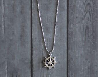 Ship Wheel Necklace