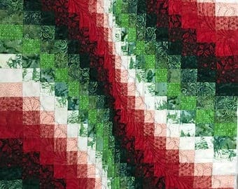 3X5 Christmas  Bargello quilt wall hanging