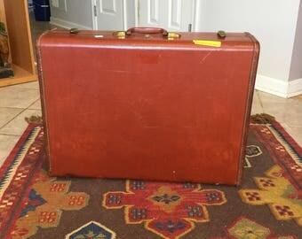 Vintage Samsonite Suitcase - Brown Leather Like