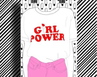 Poster Poster feminist / Girl Power / Feminist poster / A5 / A4 / A3
