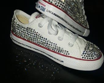 Converse bling rhinestone sneaker