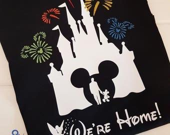 We're Home Disney Castle Shirt, Fireworks Shirt, Castle Fireworks, Disney Vacation, Disney World, Disneyland, New Years Eve Shirt