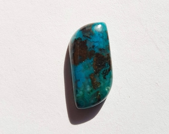 Parallelogram shaped chrysocolla cabochon 14mm x 17mm