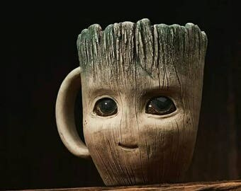 Pottery mug.TO ORDER. Baby Groot. 300 ml mug groot. Baby groot