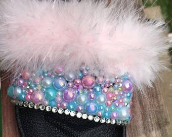 Girls bling and fur slides