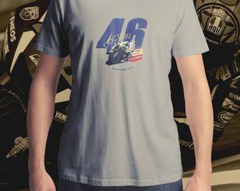 Valentino Rossi T-Shirt, Men's T-Shirt, Women's T-Shirt, MotoGP T-Shirt, Motorcycle T-Shirt, The Doctor Number 46 T-Shirt