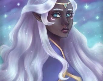 Princess Allura, Voltron, 8.5x11 Fine Art Print, Voltron Legendary Defenders, Voltron Art, Voltron Allura
