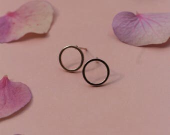 Rose Gold Geometric Earrings