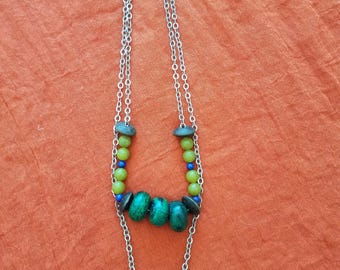 Large Chunky Green Goddess Necklace