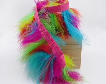 3 inch. Colorful Feather Trim. Costume Trim