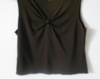STUDIO M petite women's brown knit tank top size L