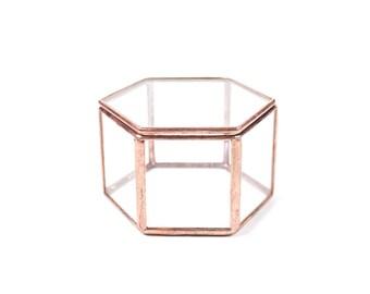 Jewelry Box, Glass Ring Box, Ring Bearer Box, Wedding Ring Box, Geometric Box, Glass Jewelry Box, Display Box, Ring Box, Geometric Display