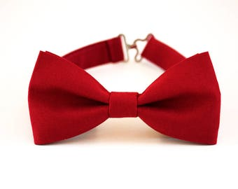 Crimson bow tie, Marsala red bow tie for men, wedding bow tie, groom bow tie, groomsmen bow tie, ringbearer bow tie, marsala boy's bow ti
