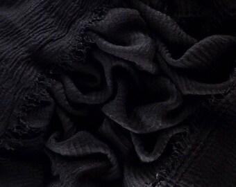 HIJAB Scarf —  JET BLACK Chiffon