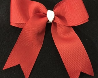 Simple Bow- Red & White
