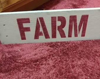Primitive Farm sign Rustic Vintage