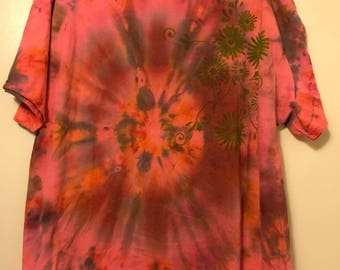 Flower Power Tie Dye Swirl Shirt