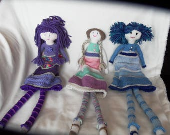 Hand Knitted Xtra Long Led Jessica Doll