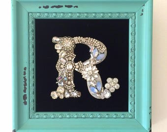 Jeweled , blingy Letter / Initial
