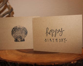 Happy Birthday Sea Shell Card and Envelope