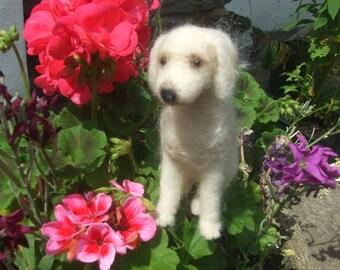 Daisy - Needle Felted OOAK Mini Dog