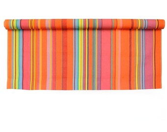 Colorful striped French upholstery fabric by the yard