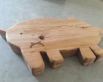 Kitchen cutting board, serving board, pig shaped kitchen board