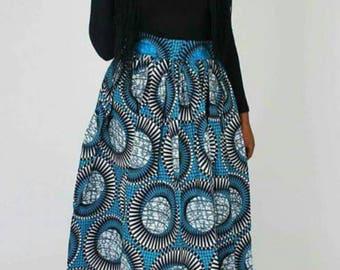African print maxi skirt, African print, African maxi skirt, Ankara print
