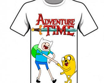 T-Shirt Adventure time, digital, img, cartoon, Fin and Jake.